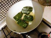 mantecatura degli spinaci