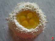 sale uova e farina
