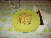 I ravioli ripieni di spinaci