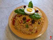 servire il riso all'insalata