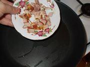 I piselli con la pancetta