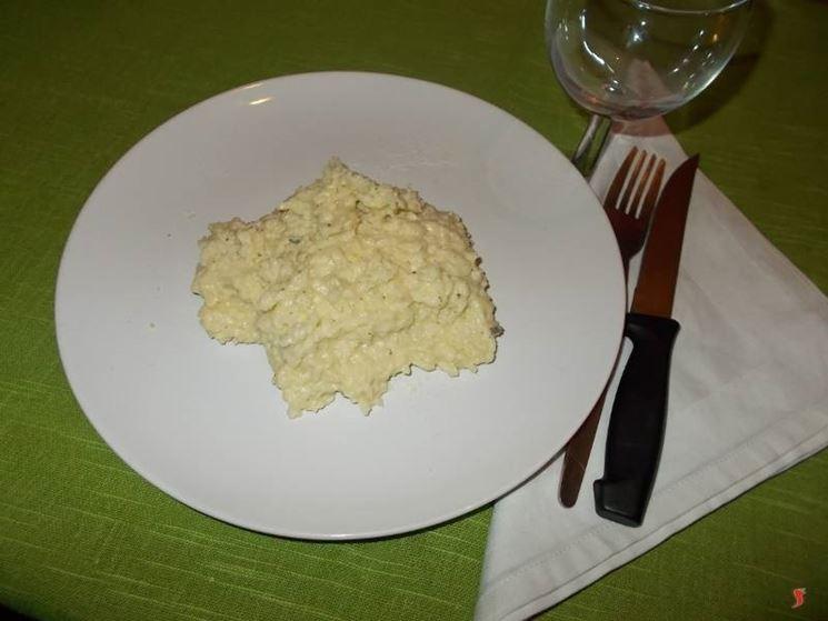 Il risotto ai quattro formaggi