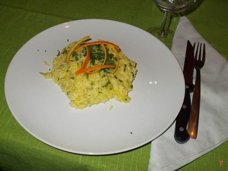 Il risotto all arancia