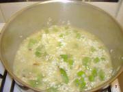 risotto in cottura