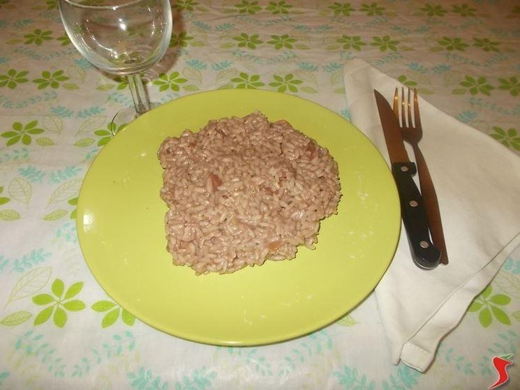 Il risotto con la pancetta