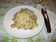 Il risotto salsiccia e funghi