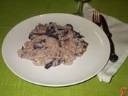 Il risotto radicchio e gorgonzola