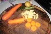 taglio a dadini verdure