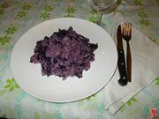 Il risotto salsiccia e radicchio