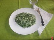 Il risotto con gli spinaci