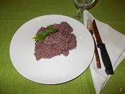 Il risotto al vino rosso