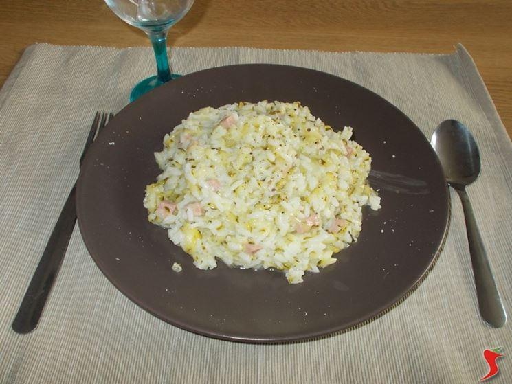 Il risotto con le zucchine