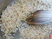 faccio tostare il riso