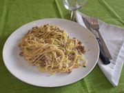 Gli spaghetti alla norcina