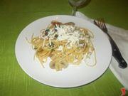Gli spaghetti alla boscaiola