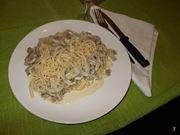 Gli spaghetti con i funghi