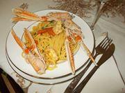 Gli spaghetti con gli scampi