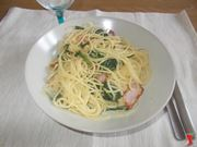 Spaghetti con gli spinaci