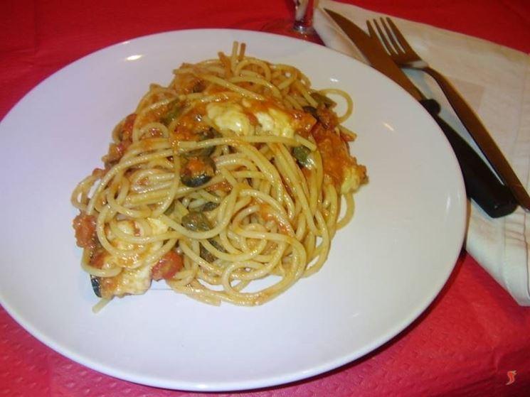 Gli spaghetti alla mozzarella