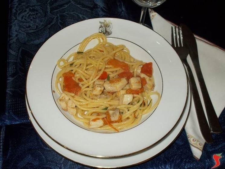 Gli spaghetti con il pesce spada