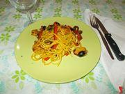 Gli spaghetti con il pollo