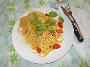 Gli spaghetti pomodoro e basilico