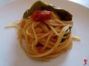 spaghetti con peperoni verdi