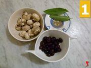 olive nere, funghi, salvia