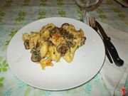 I tortellini con i funghi al forno