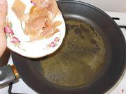 Soffriggere il prosciutto