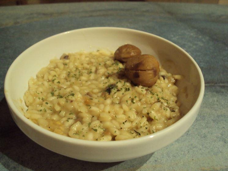 Il risotto di castagne