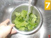 Le foglie di spinaci