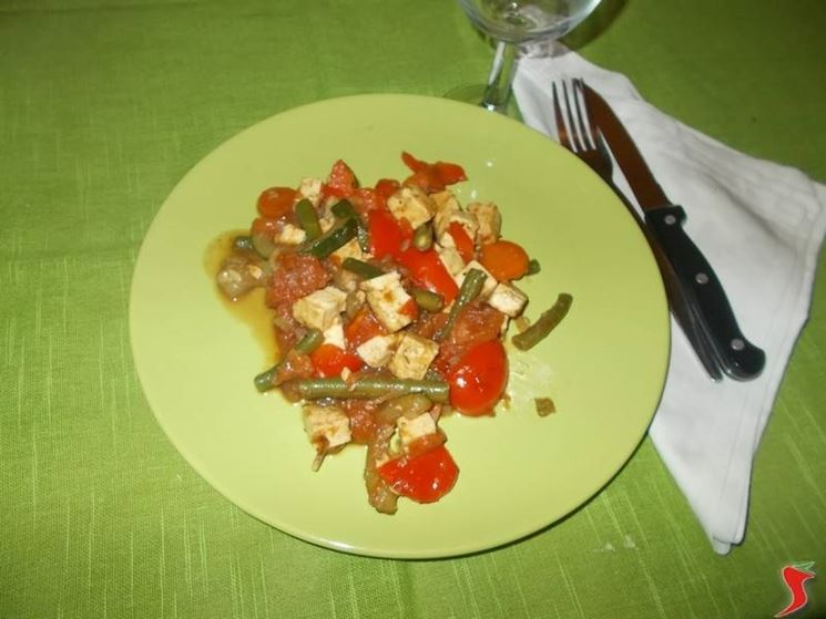 Il tofu alle verdure