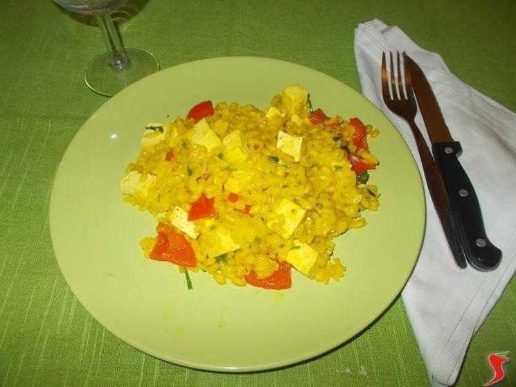 Primo piatto al tofu