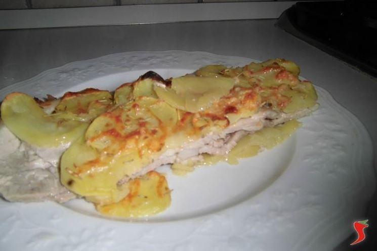 Parmigiana di patate e fettine