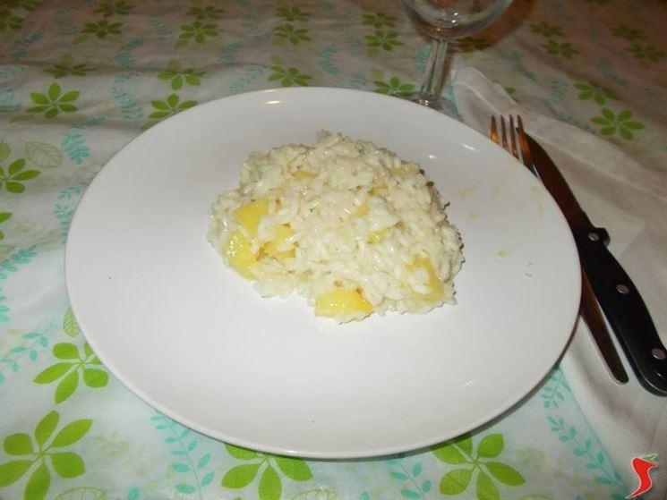 Il risotto veloce all'ananas
