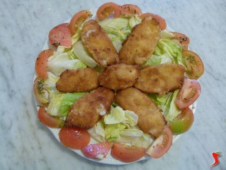 mozzarella impanata e fritta