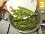 Preparazione fagiolini