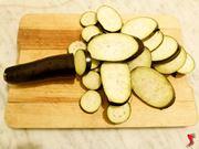 melanzane tagliate a forma circolare