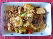 servire la pasta con il baccalà alla puttanesca