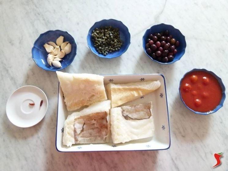 ingredienti baccalà alla puttanesca