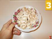 Lavorate i funghi champignon