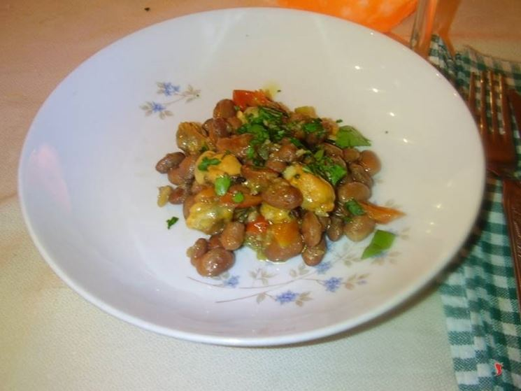 Le cozze con i fagioli