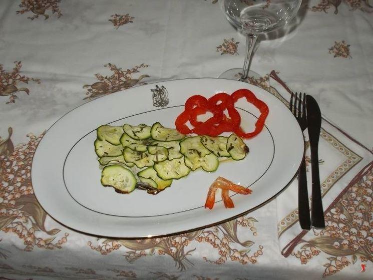 Il branzino alle zucchine