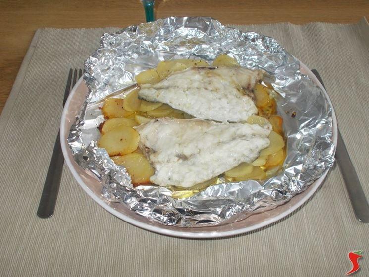 Orata al forno con le patate