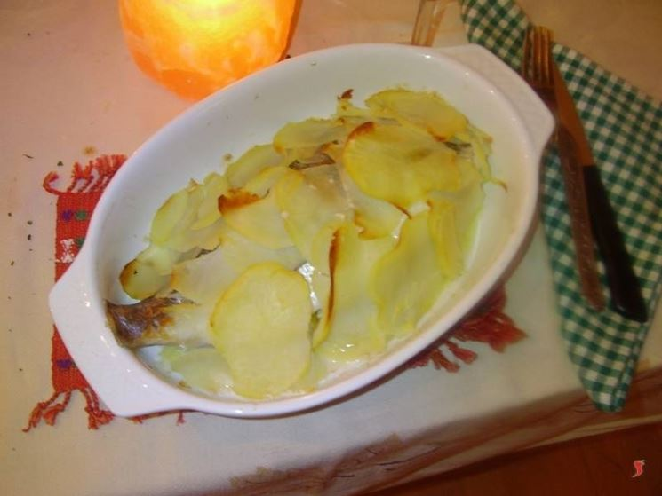L'orata in crosta di patate