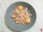 tonno, uova e sale