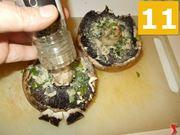 Terminare la preparazione dei funghi