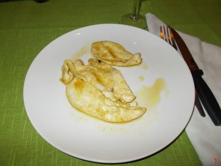I petti di pollo in agrodolce