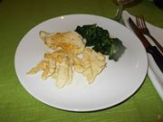Il petto di pollo con gli spinaci